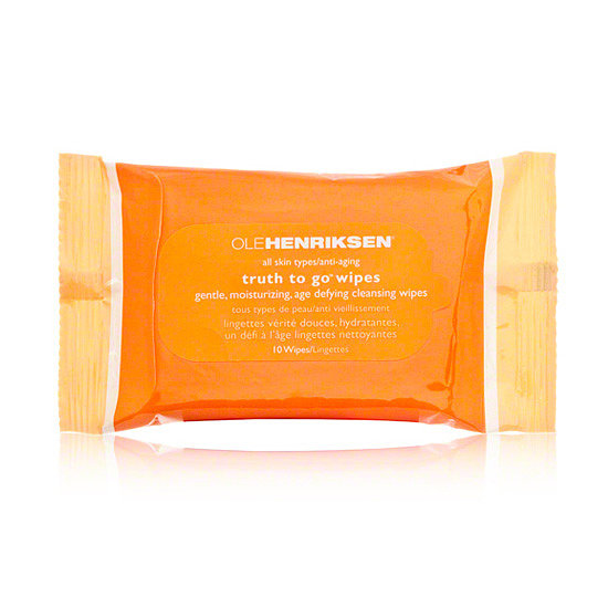 Packed with green tea and vitamin C, Ole Henriksen Truth to Go Cleansing Wipes ($6) cleanse your skin, while also giving you a dose of antiaging benefits.