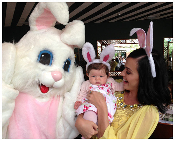 Katy Perry celebrated Easter with her baby cousin Kai. Source: Twitter user KatyPerry