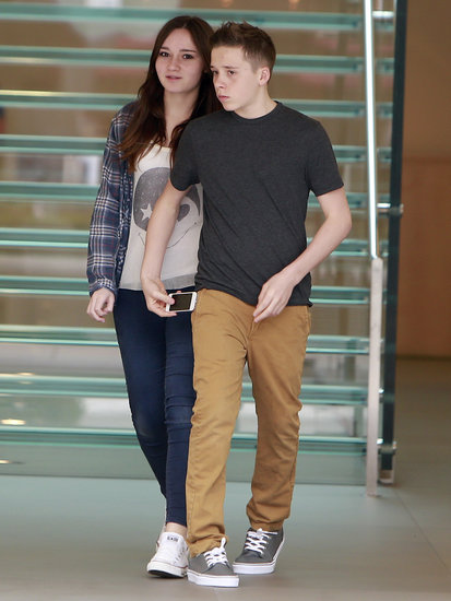 Brooklyn Beckham took a female friend to the mall in LA.