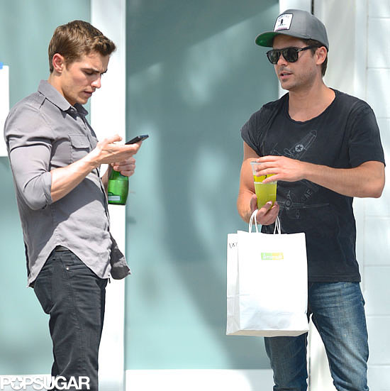 Zac Efron and Dave Franco hung out on their Townies set in LA.