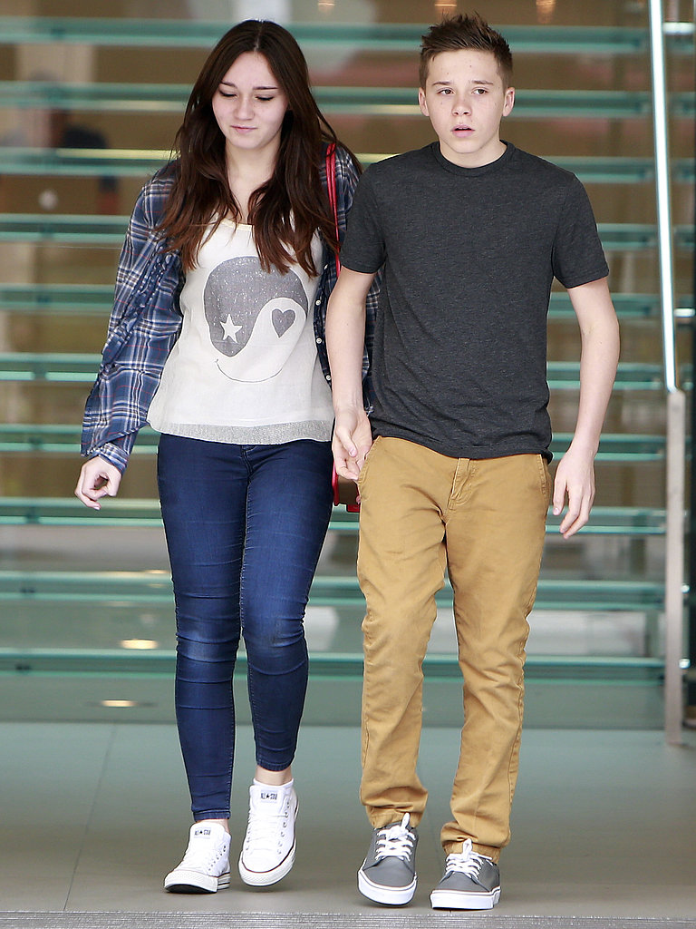 Brooklyn Beckham went on a frozen yogurt date at an LA mall.