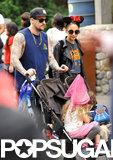 Nicole Richie and Joel Madden took their kids to Disneyland.