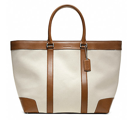 Whenever I look at the Coach Bleecker City Weekend Tote ($498), I immediately get visions of fabulous weekend trips to the Hamptons. Just think of how amazing the leather and canvas will look as it gets beat up at the beach. — Robert Khederian