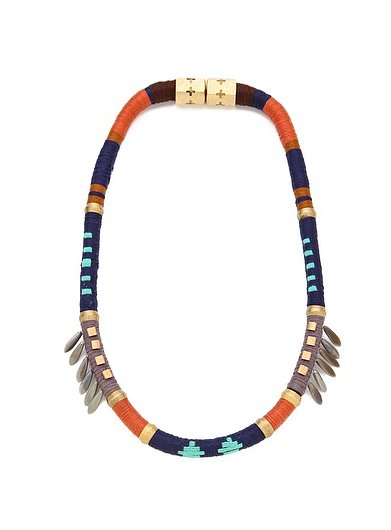 We'd wear this cool woven Holst + Lee Last of the Mohicans necklace ($196, originally $245) with all our Coachella outfts.