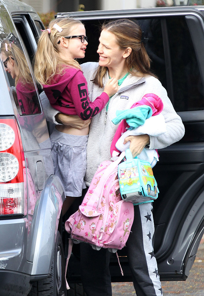 Jennifer Garner took her daughter Violet to school in LA.