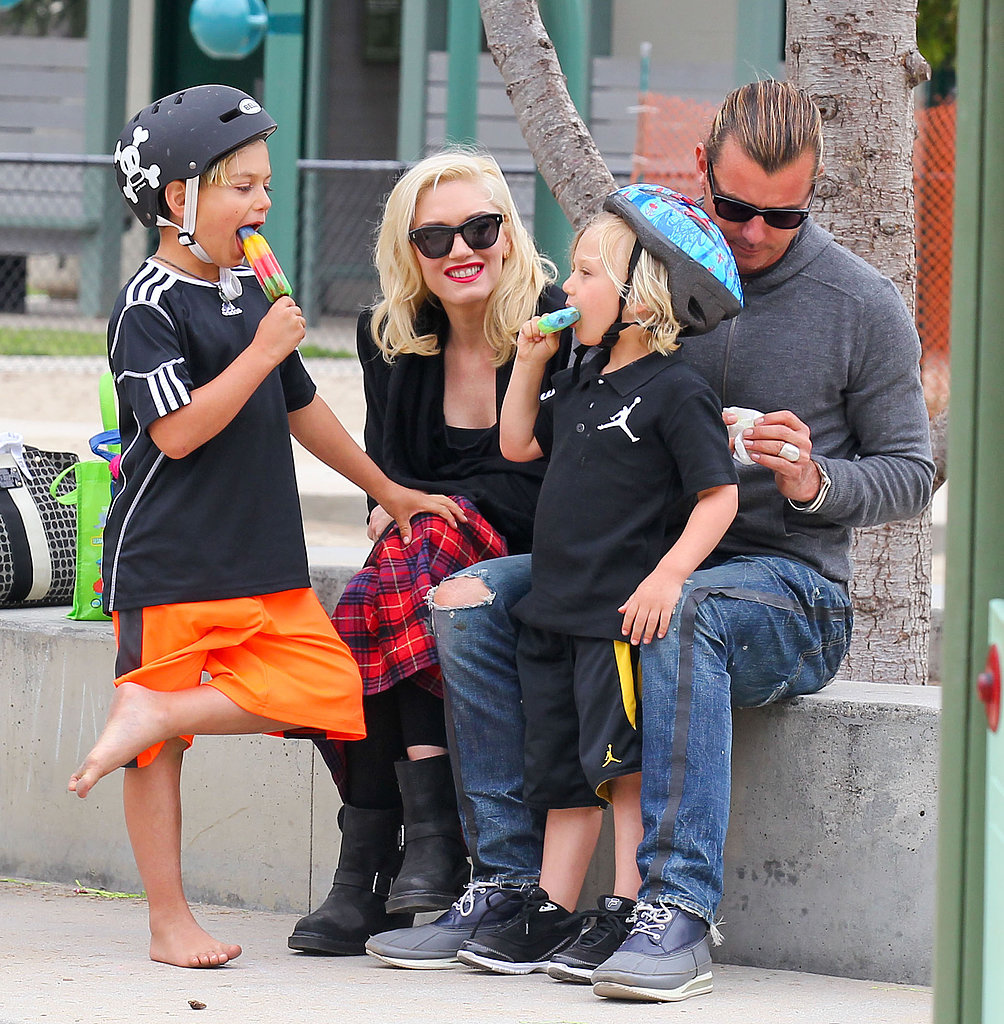 Gwen Stefani and Gavin Rossdale spent the day at an LA park with their boys, Kingston and Zuma.