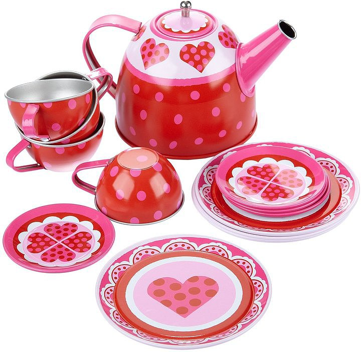Alex Heart Tea Set