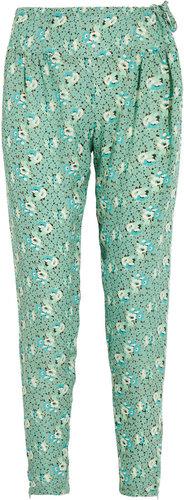 Tucker Floral-print silk-georgette pants