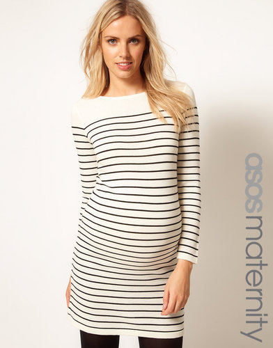ASOS Maternity Exclusive Knitted Dress In Breton Stripe