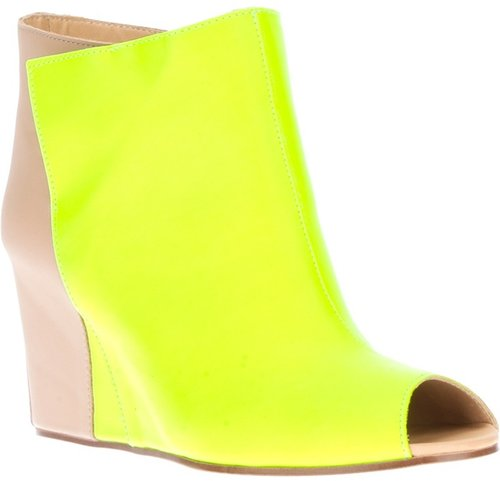 Mm6 By Maison Martin Margiela two-tone wedge pump