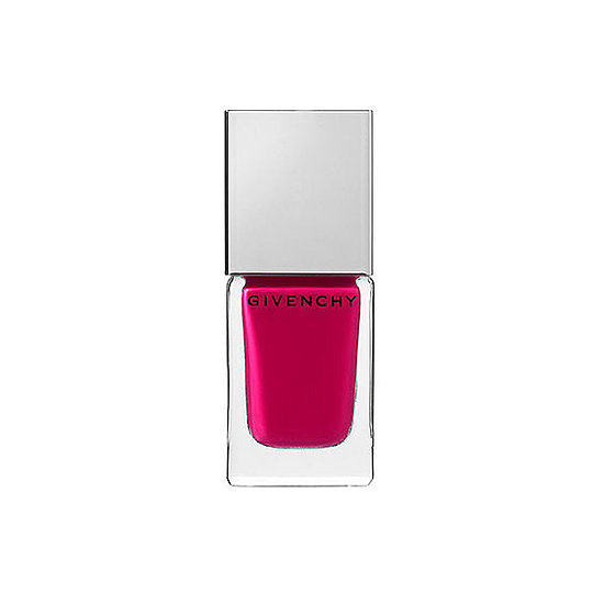 Rev up your springtime manicure with Givenchy Le Vernis Intense Color Nail Lacquer in Fuchsia Irrésistible ($20). This vibrant, edgy shade is a nice alternative to traditionally sweet-hued pinks.