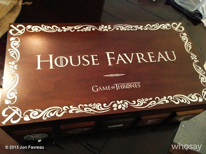 Jon Favreau scored a commemorative Game of Thrones box. Source: Jon Favreau on WhoSay
