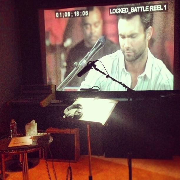 Carson Daly gave a peek behind the scenes of The Voice. Source: Instagram user carsondaly