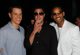 Matt Damon, Johnny Knoxville, and Will Smith joked around backstage in 2002.