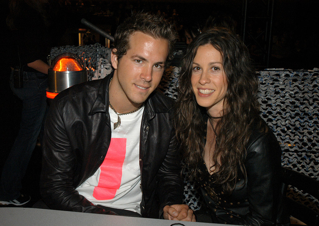 In 2003, Ryan Reynolds and then-girlfriend Alanis Morissette held hands backstage.