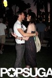 Anne Hathaway and Adam Shulman were face to face after the sun went down in 2009.