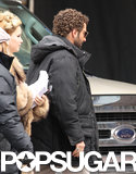 Jennifer Lawrence joined Bradley Cooper on their Boston set.