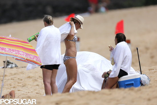Heidi Klum wore a bikini in Hawaii.