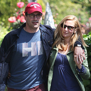 Jon Hamm and Jennifer Westfeldt Show PDA While Dog Walking