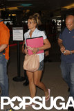 Britney Spears wore shorts to travel home to LA.