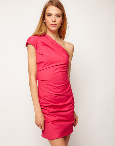 Camilla And Marc Camilla & Marc One Shoulder Dress with Drape Detail