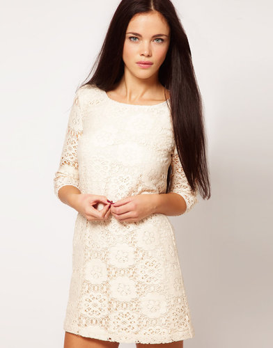 River Island Chelsea Girl Lace Shift With 3/4 Sleeve