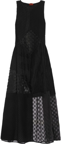 Missoni Crocheted-lace and organza gown