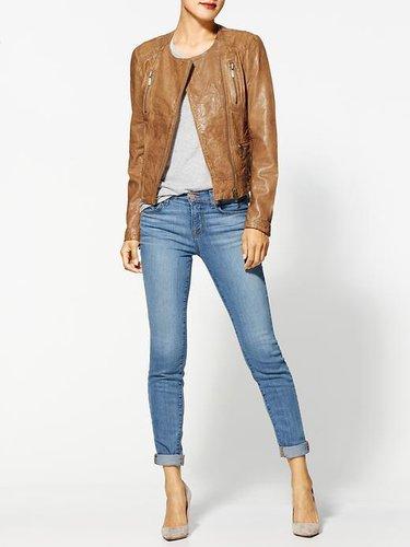 MICHAEL Michael Kors Vintage Leather Jacket