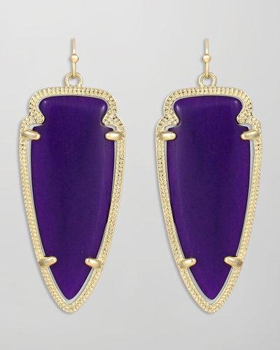 Kendra Scott Skylar Arrow Earrings, Purple