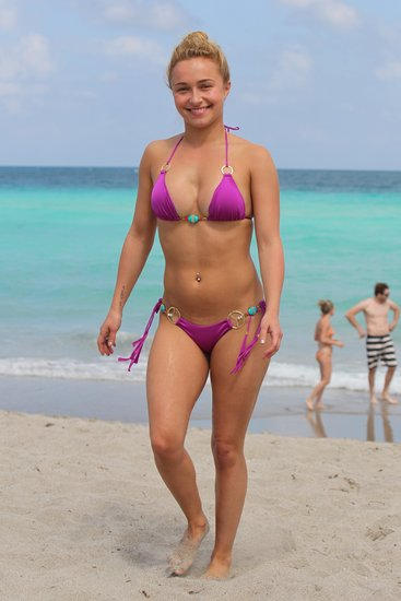 Hayden Panettiere hit the beach in Miami on Sunday.