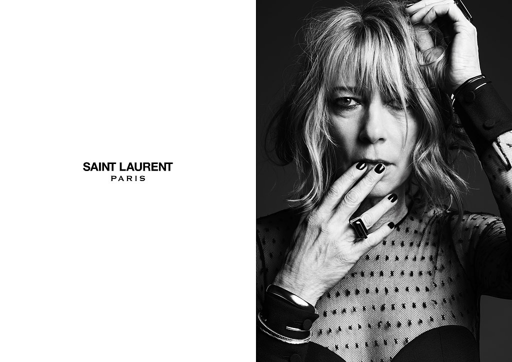 Kim Gordon photographed by Hedi Slimane. Photo courtesy of Saint Laurent.