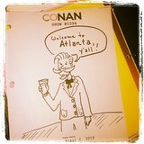 Conan O'Brien shared a script for one of his Atlanta-based shows this week. Source: Instagram user teamcoco