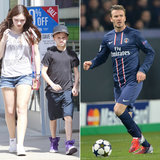 David Beckham Gets a Big Start as Romeo Hangs With the Ladies in LA