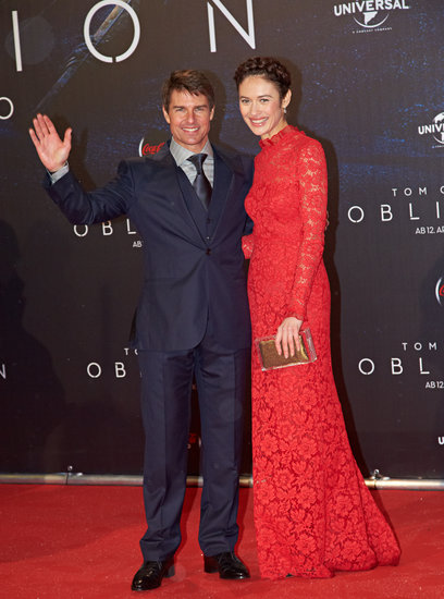Tom Cruise and Olga Kurylenko posed together at the premiere in Austria.