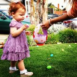 Cash Warren shared a photo of his daughter Haven during an Easter egg hunt. Source: Instagram user cash_warren