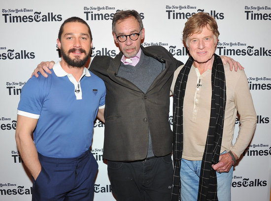 Shia LaBeouf and Robert Redford chatted with journalist and host David Carr.