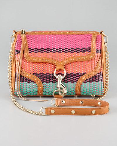 Rebecca Minkoff Woven MAC Bombe Handbag