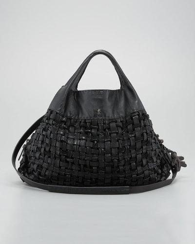 Henry Beguelin Basketweave Leather Tote Bag