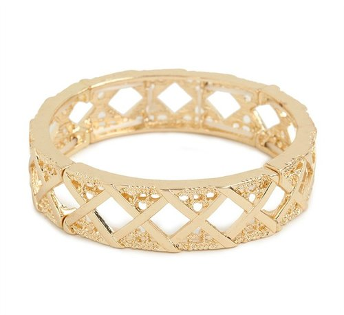 Gold Criss Bangle