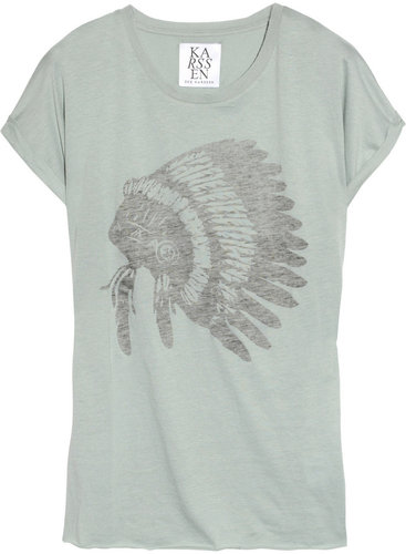 Zoe Karssen Printed cotton and modal-blend T-shirt