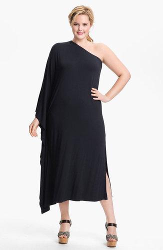 MICHAEL Michael Kors One Shoulder Matte Jersey Dress (Plus) (Online Exclusive)