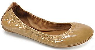 Tory Burch - Eddie - Tan Patent Leather Ballet Flat