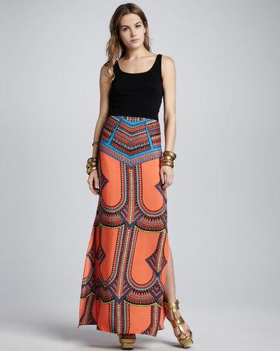 Alexis Madge Tribal-Print Maxi Skirt