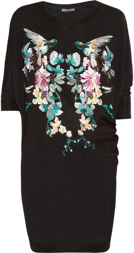 Alexander McQueen Embroidered fine-knit wool sweater dress