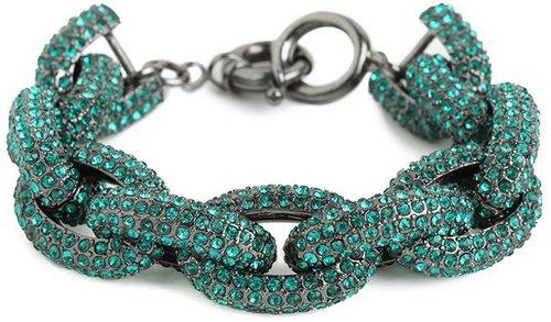 Emerald Pavé Links Bracelet