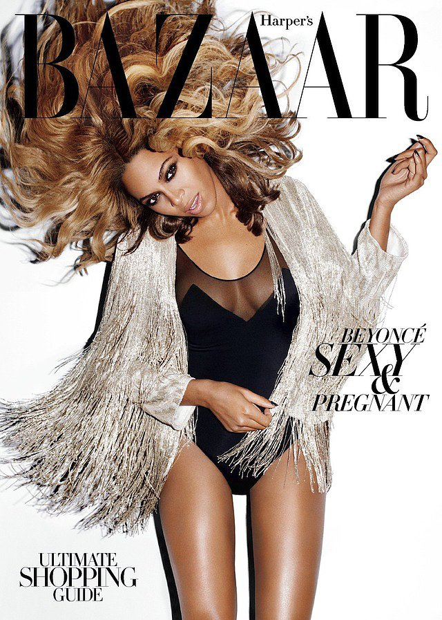 Beyoncé photographed by Terry Richardson for the November 2011 cover of Harper's Bazaar.