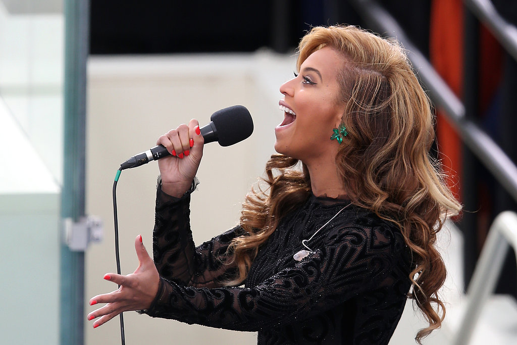 "While belting out the ""The Star-Spangled Banner"" at Barack Obama's second inauguration in January, Beyoncé sported a neon orange nail polish hue."