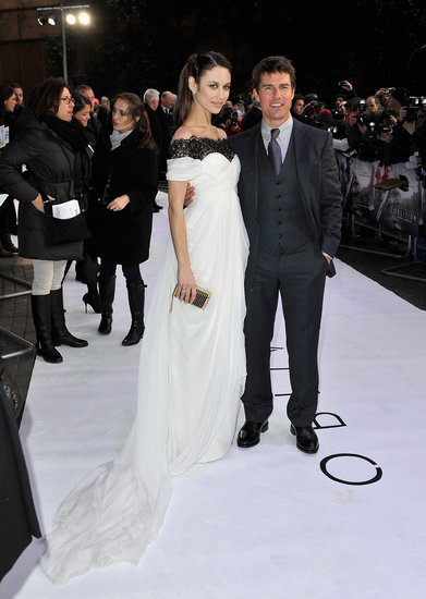 Tom Cruise and Olga Kurylenko arrived at the UK premiere of their film.