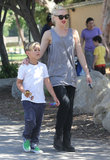 Gwen Stefani and Kingston Rossdale visited a children's museum with their family.