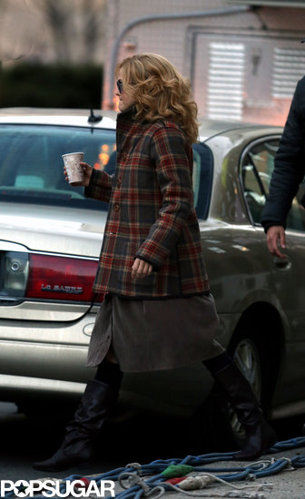 Keri Russell wore a wig while filming.